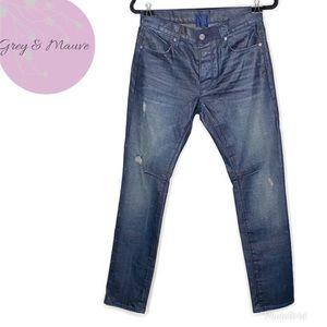 Road to Awe (RtA) Dark Wash Distressed Skinny Jean